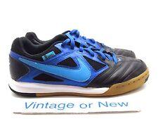 Nike 5 Gato Black Blue Gum IC Soccer Shoes 441715-044 GS sz 4Y