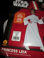 Adult Star Wars PRINCESS LEIA Costume DRESS BELT WIG MEDALLION Fit to Sz 12 NEW