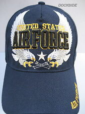 U.S. AIR FORCE VETERAN Cap/Hat w/Eagles Blue Military Free shipping 100%Acrylic