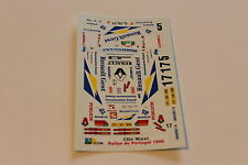 DECALS 1/43 RENAULT CLIO MAXI KIT CAR GALP RALLYE DU PORTUGAL 1996 RALLY WRC