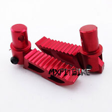 Red Alloy Footpegs Foot Rest Pegs 47cc 49cc 2 Stroke Pocket Bike ATV Mini Dirt