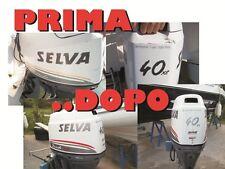 Adesivi motore marino fuoribordo Selva Dorado 40   gommone barca stickers