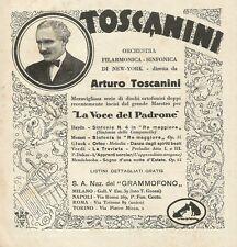 Y1124 Arturo Toscanini - La Voce del Padrone - Pubblicità 1930 - Advertising