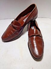 BRUNO MAGLI  Mens Shoes 12 Brown Leather Loafers Made in Italy Handmade ALCOT