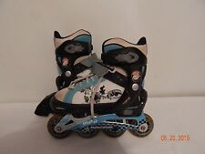 Girls Youth Roller Blades Inline Skates Size 1-4  Adjustable MONGOOSE blue grey