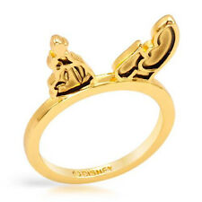 DISNEY Couture Cinderella's Carriage Ring in Gold Plated Base Metal Size 8.