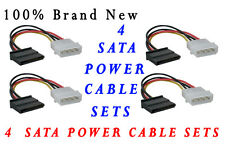100% Brand New 4 Pcs 4-Pin IDE to 15 Pin SATA HDD Power Adapter Cable