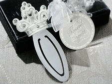 150 White Rhinestone Cinderella Fairytale Crown Tiara Bookmark Wedding Favors