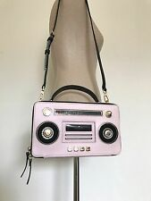 Kate Spade Pink Multi Leather Jazz Things Up Boom Box Shoulder Bag PXRU7045 NWT