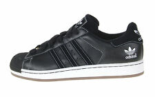 Adidas Superstar II TL Size 8 Men's Black/Black Leather Sneakers Shoes 014532