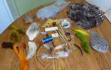 A VINTAGE COLLECTION OF QUALITY FLY TYING FEATHERS , HAIR, BUFFALO WOOL- BEAR