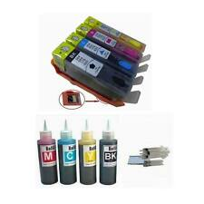 4 Comp Refillable ink cartridge HP 920XL OfficeJet 6000 6500 4x100ml ink bottles