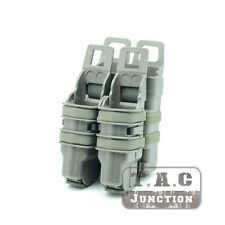 Tactical Magazine Pouch 2x 9mm .40 .45 FastMag+5.56 .223 FastMag MOLLE / P.A.L.S