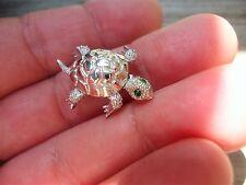Vintage MONET Costume Jewelry  Rhinestone  Turtle brooch Pin