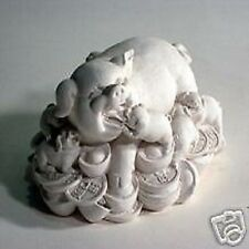 Pig with Babies latex Mould/Mold plaster/candle/soap 1049