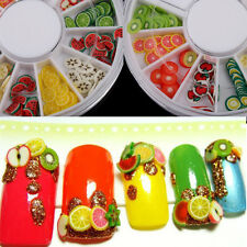 DIY Fimo Wheel Rhinestones Manicure Creative Fruit Slice Nail Beauty Decoration