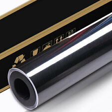 3M x 1.51M 6D Gloss Black Carbon Fibre Fiber Vinyl Car Wrap 4D 5D Decal Lapto...