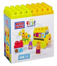 MEGA BLOKS FIRST BUILDERS BUILD N LEARN ALPHABET LEARNING BUS BRAND NEW IN BOX