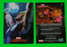 MARVEL MASTERPIECES 2007 Fleer Marvel Masterpieces THOR P3 PROMO CARD