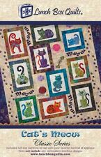 CATS MEOW CLASSIC SERIES QUILTING PATTERN, Fun Applique Quilt NEW