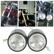 "Dominator Matte Black Dual 4"" Headlight For Streetfighter Cafe Racer GSF600 SV"