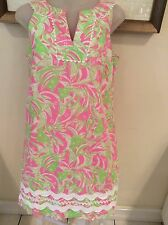 LILLY PULITZER Sleeveless PINK/LIME GREEN FISH Print- Size 4