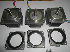 3 NEMA 23 STEPPER MOTORS -CNC MILL LATHE ROBOT REPRAP taig lathe power feed 2