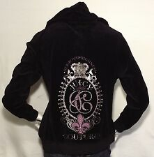 NEW JUICY COUTURE Her Royal Highness Embellished Pullover, XL Black ,org $150.00