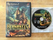 Romance of the Three Kingdoms IX Sony PlayStation 2 PS2 System Game 9 & Box