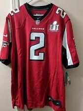 Atlanta Falcons Super Bowl LI On Field  (51) Jersey-Red-Size L Matt Ryan