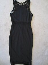 WOMENS EXPRESS BLACK FISH NET STRETCH FITTED SLEEVELESS DRESS SIZE 0 NWT