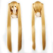 "USPS Mail 32/40"" Hatsune Miku Long Cosplay Ponytail Full Wigs Blue Green Pink L2"