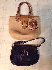 Lot Of 2 Authentic Coach Purses Handbags M0768-11798 & B0972-F13105