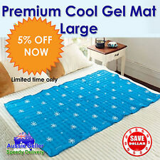 Large Cool Gel Mattress Bed Pad Cooling Non Toxic Summer Dog Cat Blue Mat KOREA