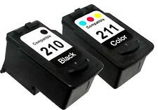 2 PK INK CARTRIDGE FOR CANON PG-210 CL-211 PG210 CL211 PIXMA IP2702 MP230 MP240