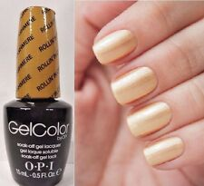 OPI GELCOLOR ~ROLLIN IN CASHMERE~ Gold Shimmer Nail Lacquer gel Polish .5oz F13