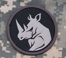 Mil-Spec Monkey Rhino Head Morale Patch SWAT Hook Back
