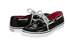 Sperry Topsider Black Sequins Boat Shoes  Little Girls Size 10