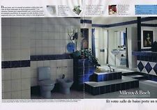 PUBLICITE ADVERTISING 025 1992 VILLEROY & BOCH salle de bain  (2 pages) 1