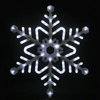 73cm Snowflake Light Up White LEDs Christmas Xmas Decoration Outdoor Display