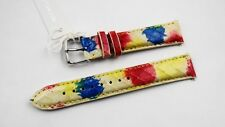 New Authentic  Michele Deco Csx Snakeskin Watch Band 18 MM