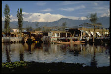 595036 Houseboats Dal Lake Srinagar Kashmir A4 Photo Print
