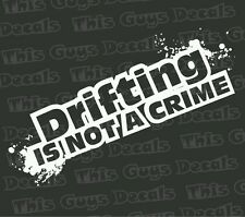 Drifting is not decal jdm vinyl turbo racing window car stickers boost slammed