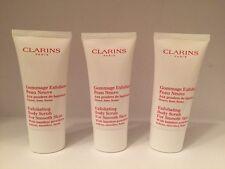 Lot/3 Clarins Exfoliating Body Scrub For Smooth Skin  1 oz / 30 ml X 3