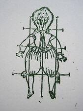 """Max Ernst: original-Lithographie Lewis Caroll """"wunderhorn"""", wv spies/Leppien 135"""