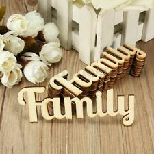 10x Plaque Wooden 3mm MDF Family Word Script for Family Tree Craft Crafts 10x4cm
