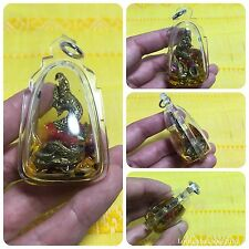 Beautiful Phya Nark Naka Holy Snake in Oil Thai Amulet Luck Rich Wealth Protect