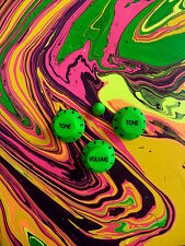 Guitar Knobs NEON GREEN Set for Ibanez Jem Universe RG S Guitar (New)