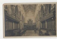 Selby Abbey Church, Choir E. Real Photo Postcard, A853