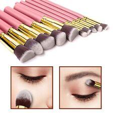 10pcs Kabuki Style Make Up Brush Set Face Powder Foundation Blusher - Style 6